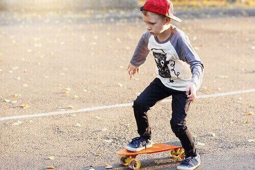 learn how to ride a skateboard